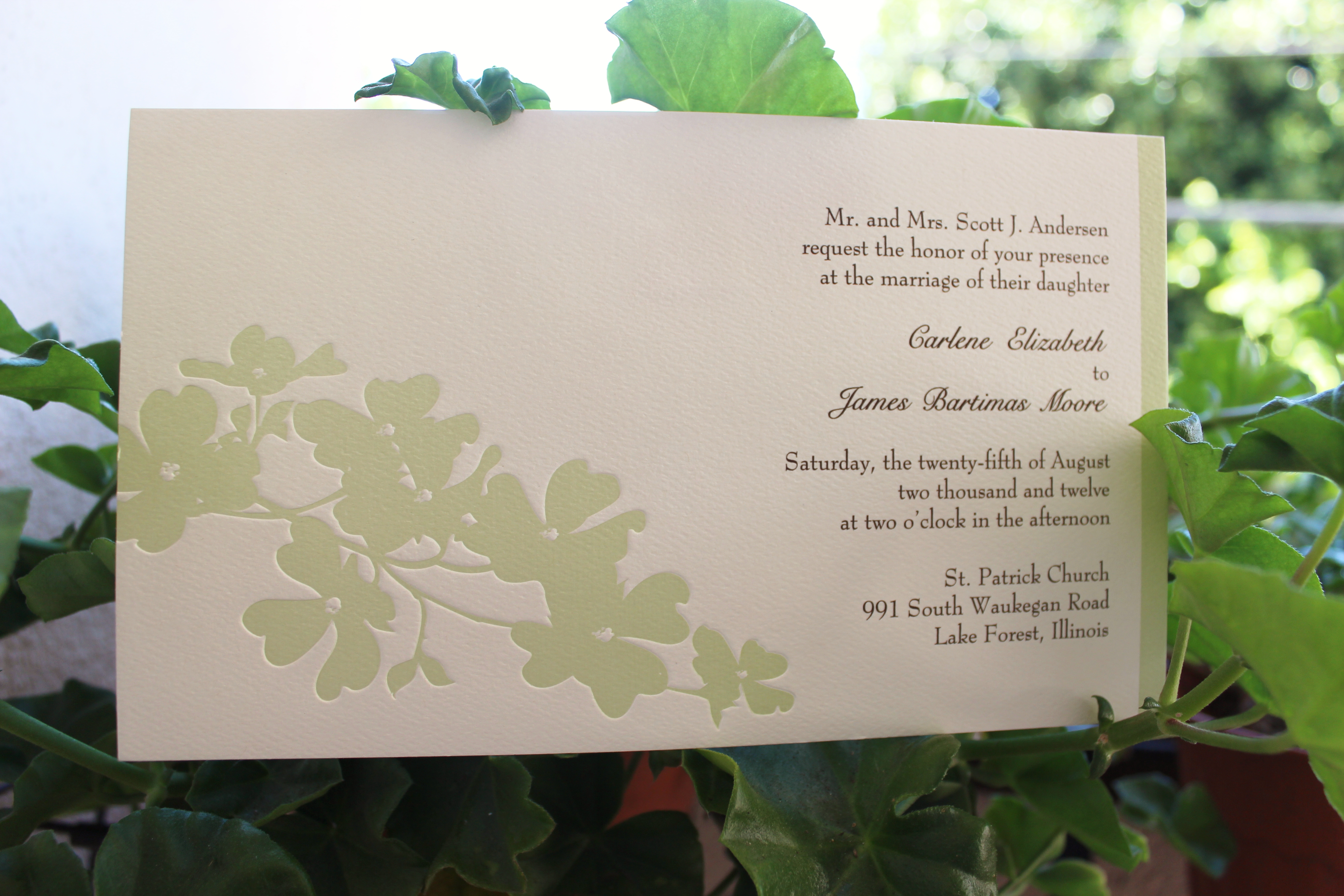 Garden Wedding Invitations: Eco-Friendly Garden Wedding Invitations